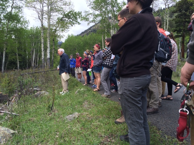 RMC-CC learns about the history of the region from Jim Pickering